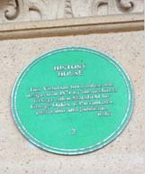 Plaque at History House